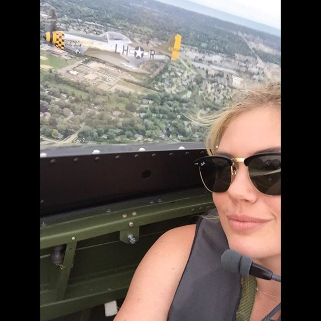 Feeling pretty lucky to be able to experience a P-51 Mustang flying over wrigley field! #chicago #wrigleyfield #bucketlist #selfie