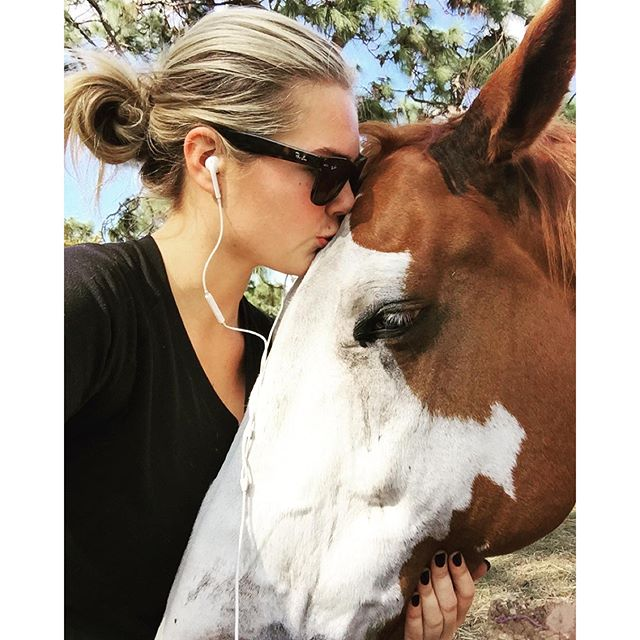 Had to give my boy some kisses! He was getting jealous of #americanpharoah #horsesnuggles