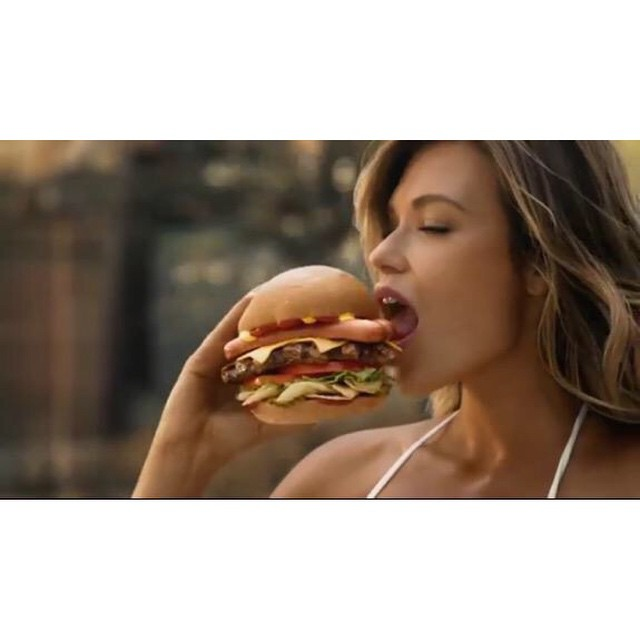 So happy to be apart of the #MostAmerican TV spot ever! @carlsjr @hardees