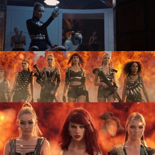 Sqaud Goals has never been more real... Thank you to my incredible friend @taylorswift for letting me be a part of this epic cast & experience and for showing our generation the importance of empowering each other!! You made all our secret agent/super hero dreams come true #BadBloodMusicVideo #slayz