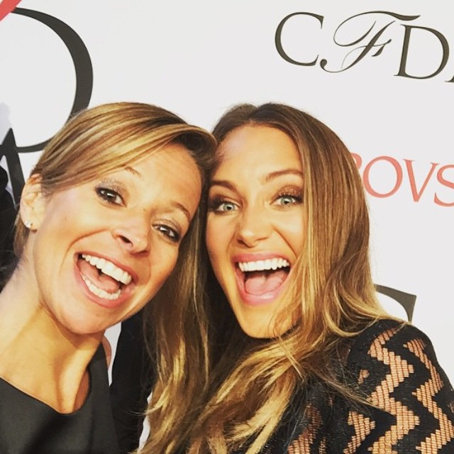 Last night with the sweet @millybymichelle at the @cfda awards! Thank you for having me as your date! #girlsnight