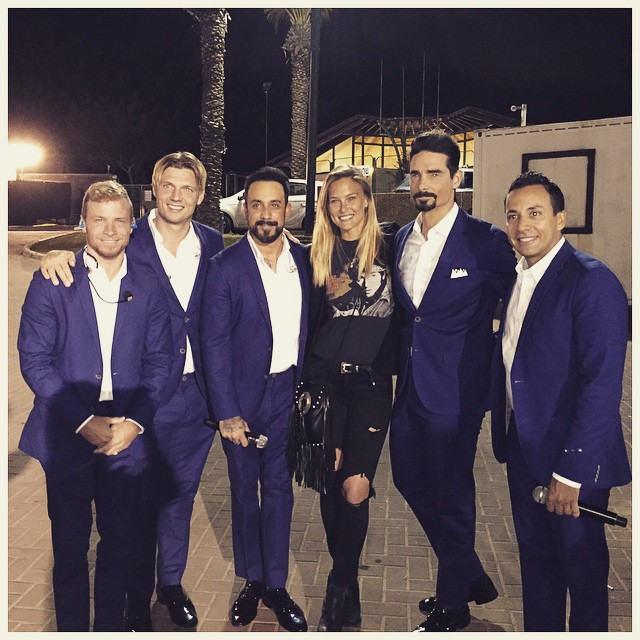I met these guys at the backstreet so we took a picture ..