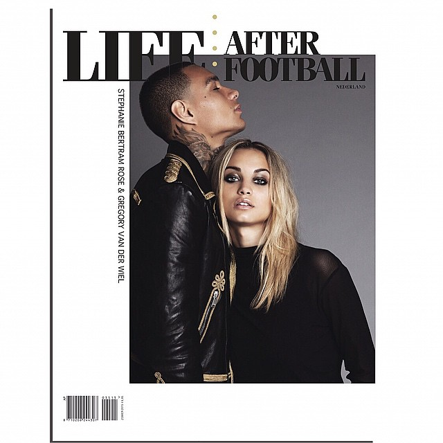 So excited to show you our first couple shoot together. Cover + Story with @gregoryvanderwiel Pre order yours now to see the full editorial on @lifeafterfootball
