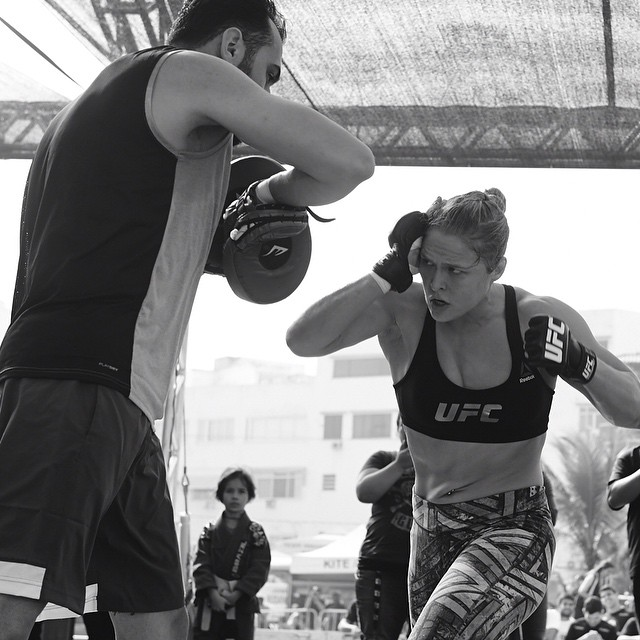 #UFC190 open workout - born ready #Aug1st #andSTILL Pic by @ewillphoto