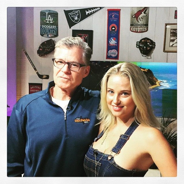 Dan and I on this mornings broadcast of the @danpatrickshow