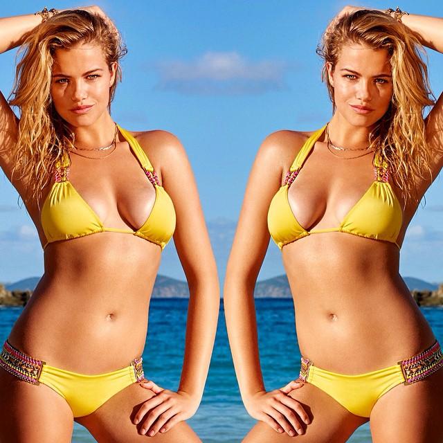 Sunshine fine 'Belize Beauty' in yellow is summer perfection #beachbunnyswim #bikini #summer
