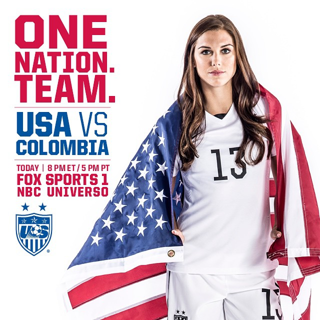 TODAY. Game day! #USAvCOL