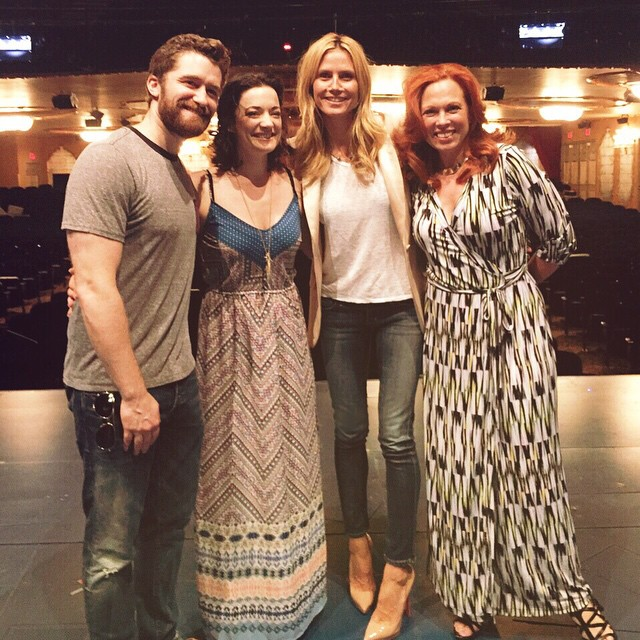 Had a great time seeing @neverlandbway and meeting @matty_motown , @lauramichellekelly and @caroleecarmello #findingneverland