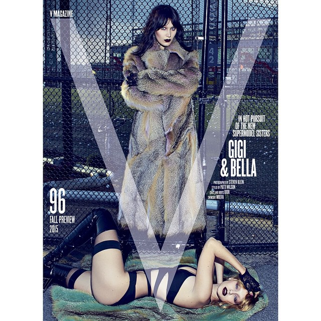 Double the Hadid? Double the cover. @vmagazine #V96 on stands JUNE 30th. @bellahadid