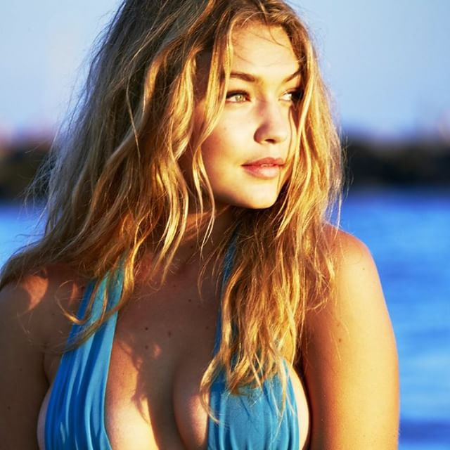 Here's a pic of @gigihadid let's have an #endlesssummer @si_swimsuit #2014 issue @mj_day @christinecherbonnier @anthonycristianosalon @darciebaum #shhhhh