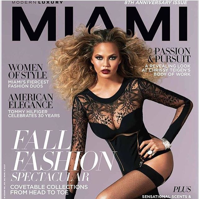 One of many September issues of @modernluxury featuring my girl @chrissyteigen Shot by @johnrussophoto Styling @jamesastyle Make up by @1maryphillips Hair #johnruggierohair @bumbleandbumble @swartists