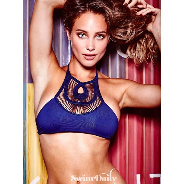 @hanni_davis is on fire!!!!! Make sure you head on over to Swim Daily to check out some new images from our #SISummerSwim series! Shot by @marquisphoto at the @gansevoort. Hair by @adammaclay // Make-up by @britcochran10 // Swimsuit by @bettinis_swimwear #siswim