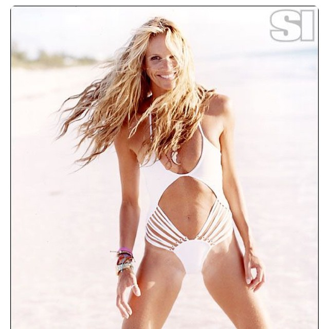 It's a #bikini #throwbackthursday with our personal #boho #style #icon Elle Macpherson shot here in #sportsillustrated #swimsuit 2006. #siswim #tbt #bikinis #bohemian #bohochic #swimwear #fashion #fierce #beach #model #models