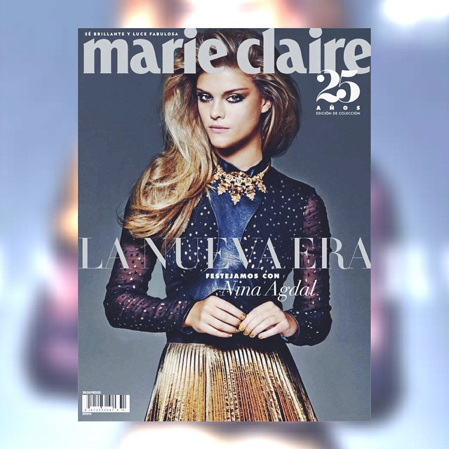 NINA AGDAL ON THE COVER OF THE ANNIVERSARY ISSUE OF MARIE CLAIRE MEXICO & LATIN AMERICA @ninaagdal @marieclaire_la #ELITENYC #NINAAGDAL #SUPERMODEL #MC25 #GENERATIONNOW #PRIXDELAMODE