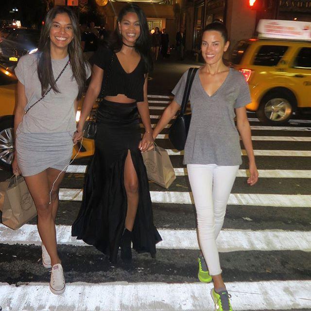 Feels good to be back with my girls @heidydelarosa @stringbeanchristine #nyc #bff