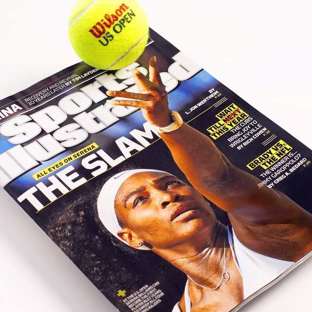 This week's national #SportsIllustrated cover: #SerenaWilliams and her quest for the elusive #tennis #GrandSlam Can she do it? http://on.si.com/1JtFgnq