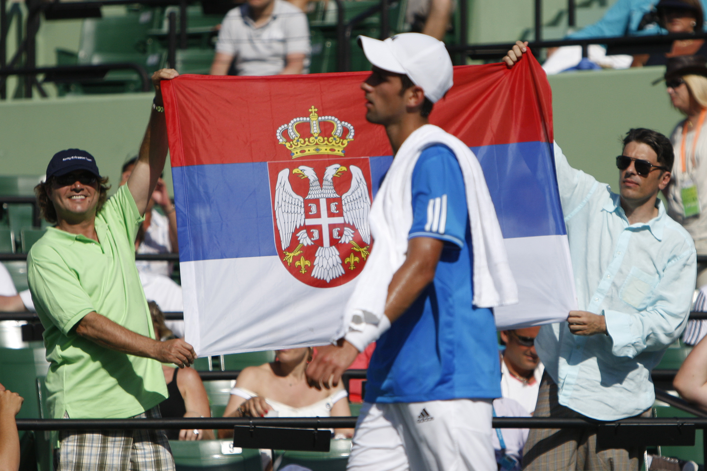 Primary colors have always worked best on Novak, particularly the ones from Serbia's flag.