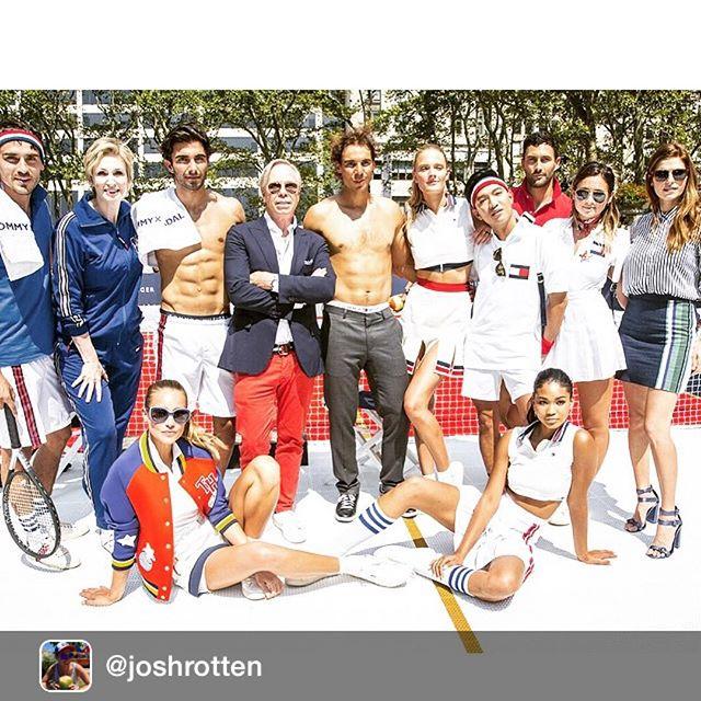 The @tommyhilfiger team takes Nadal #tommyxnadal @imgmodels @hanni_davis @chaneliman @nmills83 @akiniko @joshrotten