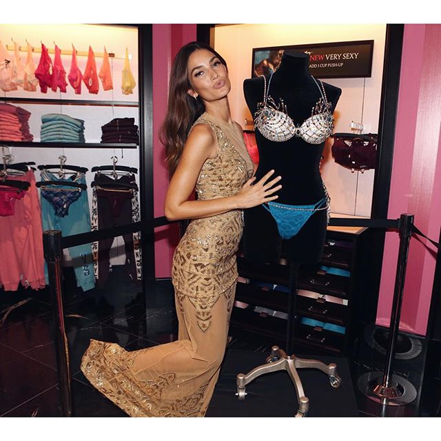 Dream day Thank you @VictoriasSecret!!!! Next stop NYC for show fittings #VsFashionShow2015 #FantasyBra @mouawadjewelry