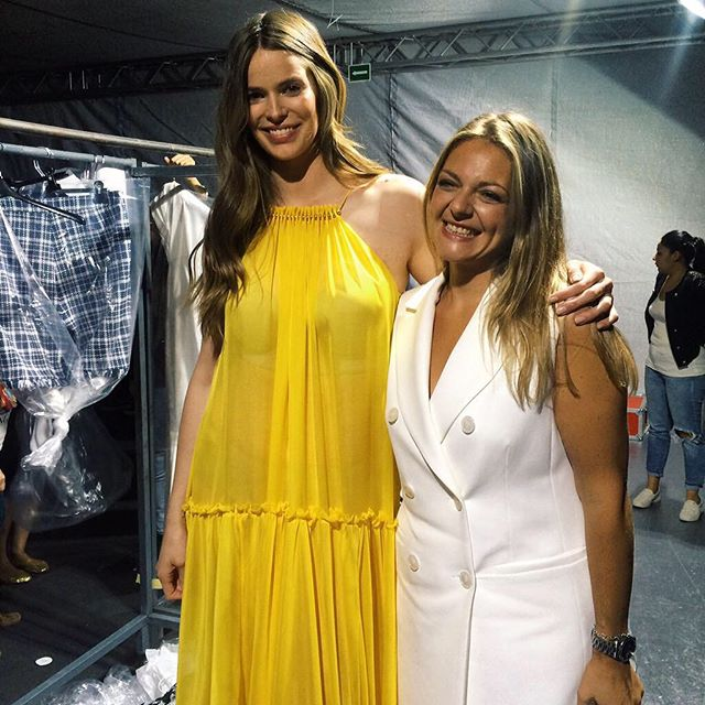 Here with one of the brand managers Esther, after show @elcorteingles @mfshow_women #couchel