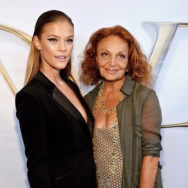 So incredible to finally meet the one and only @dvf! Thank you for having me at your beautiful show #NYFW