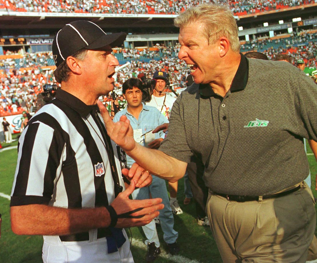 "Parcells was furious with Patriots owner Robert Kraft after he overruled him in the 1996 draft (apparently over wide receiver Terry Glenn). This prompted Parcells' classic response of, ""If they want you to cook the dinner, at least they ought to let you shop for some of the groceries."" The Big Tuna was livid enough to leave New England -- on the heels of a Super Bowl season -- for the rival Jets in 1997. After a near-miss for the postseason in '97, the Parcells-led Jets won the AFC East in 1998 and almost knocked off the eventual-champion Broncos in the AFC title game."