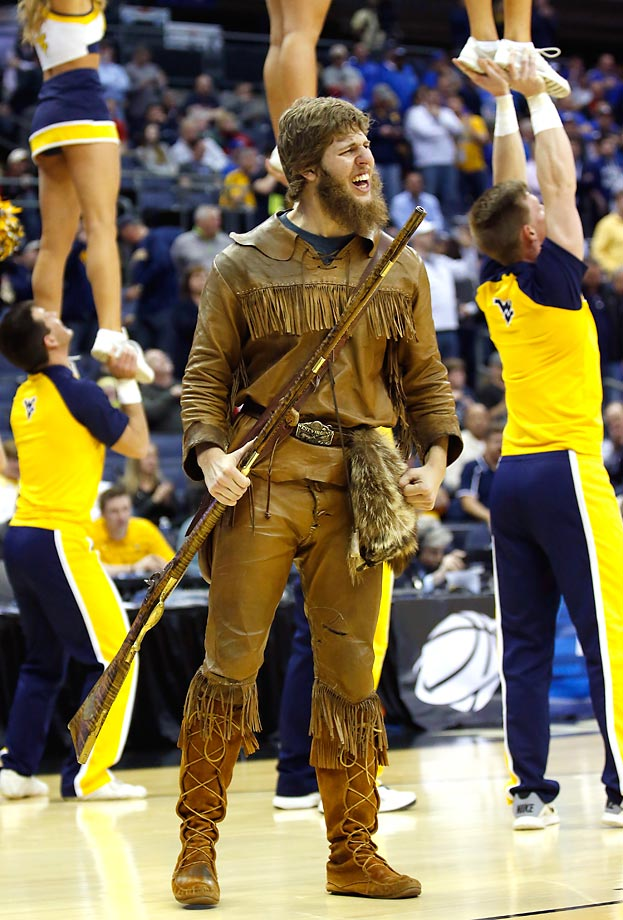 Although we have a handful of Mountaineers across D-I, D-II and D-III athletics, West Virginia boasts the most manly of them, using a burly student each year to depict the manliest of men. Using a human is really the only way to go with such a nickname and WVU nails it every year. Kudos for being No. 5. (Text credit: Andrew S. Doughty/NextImpuseSports.com)
