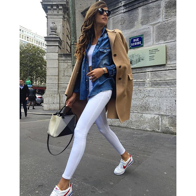 Du Jour Comfy and cool!! #paris #streetstyle #nike #cortez #sneakers #sportchic #style #busydayahead #ootd