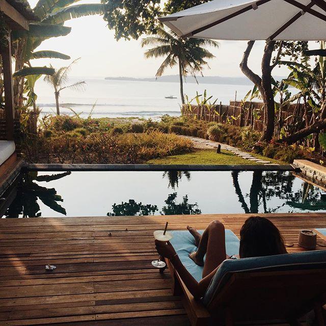 My villa @nihiwatu_resort_sumbaisland getting my views in before the @britishpoloday