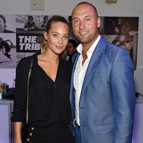 Congratulations #HannahDavis and #DerekJeter! The retired #Yankees shortstop put a ring on it after dating for 3 years. | Jamie McCarthy/Getty
