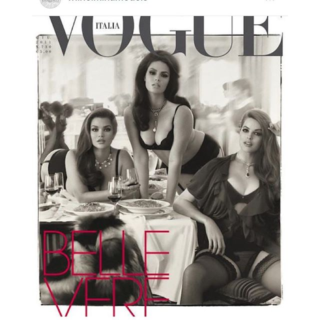 Kinda fitting that @wilhelminamodels #regramed this when I just arrived At a Italian restaurant haha well timed, with my home girls @marquitapring @taralynn @candicehuffine makeup by @patmcgrathreal styling by @edward_enninful @vogueitalia #stevenmeisel #bellevere #2011