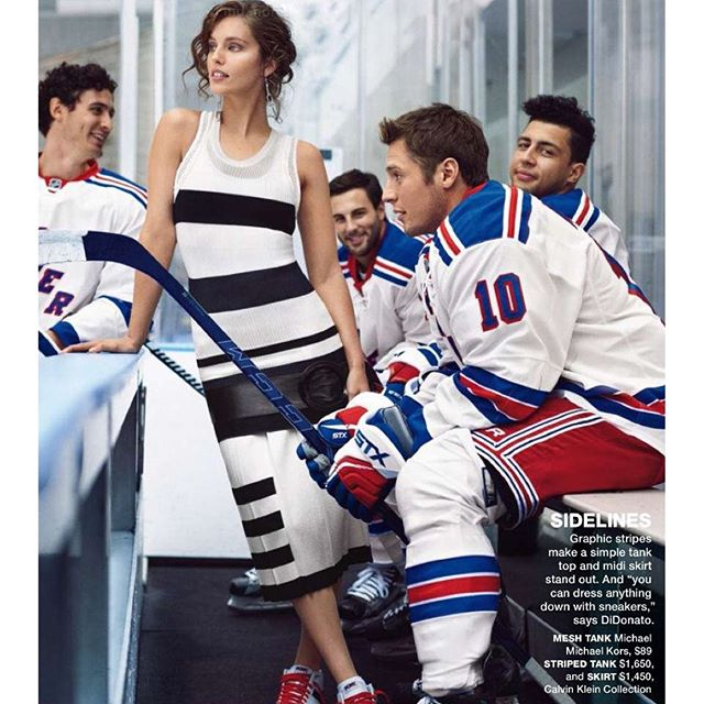 NEW story in one of my favorite magazines @selfmagazine with the @nyrangers (no big deal) This was such a fun story to shoot! @imgmodels @ @bjarnejonasson