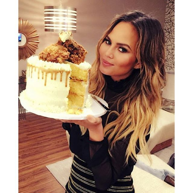 Happy 30th Birthday, @chrissyteigen! May today be filled with fried chicken and cake. | #regram