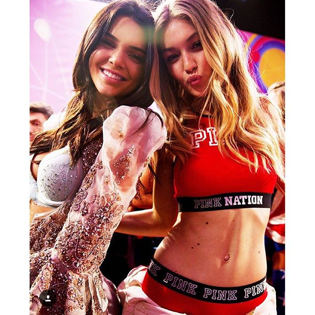 One more day until the #VSFashionShow airs on CBS at 10 pm! Who can't wait to watch @kendalljenner and @gigihadid?! @victoriassecret
