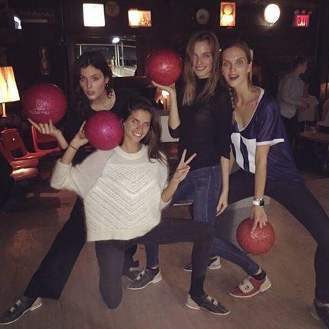 New bowling team! #girlpower @sadienewman1 @abimfox @mirtemaas