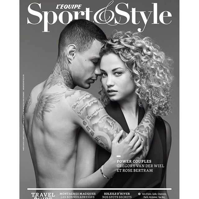 #PowerCouple So excited to share this cover of me and my man @gregoryvanderwiel with you guys! Shot for @lequipe @sportetstyle is coming out this saturday, get yours! Special thanks to @quentinstag for making this happen. #PowerCouple tres heureuse de partager cette couverture de moi et mon homme @gregoryvanderwiel avec vous! Cover pour @lequipe @sportetstyle sort ce samedi! Un grand merci à @quentinstag pour concrétiser ce projet.