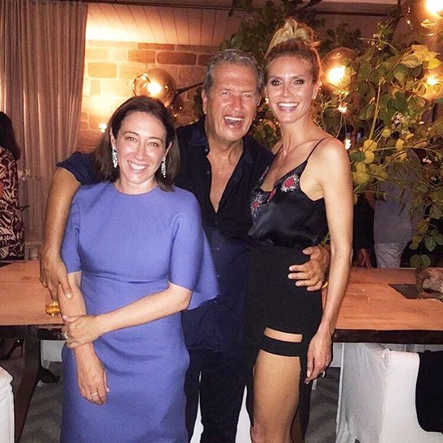 #Regram from @vogueaustralia: Vogue editor in chief Edwina McCann with Mario Testino and Heidi Klum at the wrap party for #VogueAusXTestino @destination_nsw #ilovesydney @lk_boutique #lkboutique @domperignonofficial @merivale