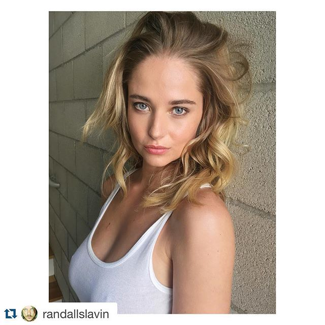 #Repost @randallslavin with @repostapp. ・・・ On set today with Genevieve Morton.
