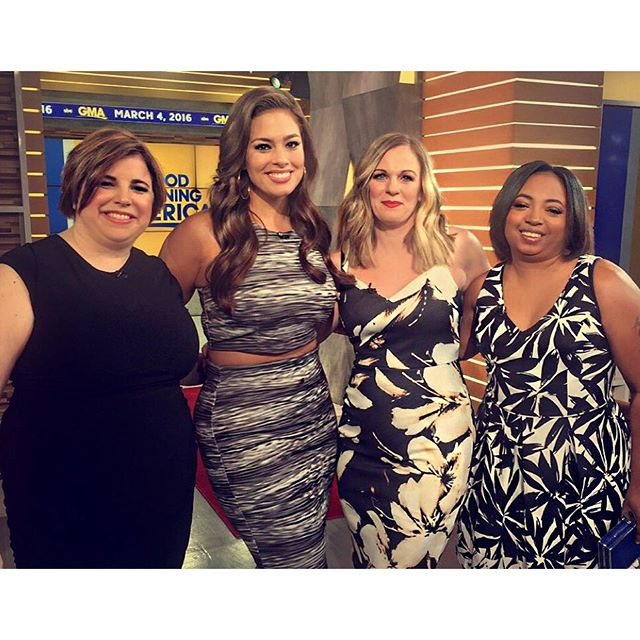 Gave these three beautiful ladies a makeover on @goodmorningamerica wearing my new dress collection #BeyondxAG available at @dressbarn! ---All of these dresses and more are available in stores and online, sizes 4-24, $46-$66--- #beautybeyondsize