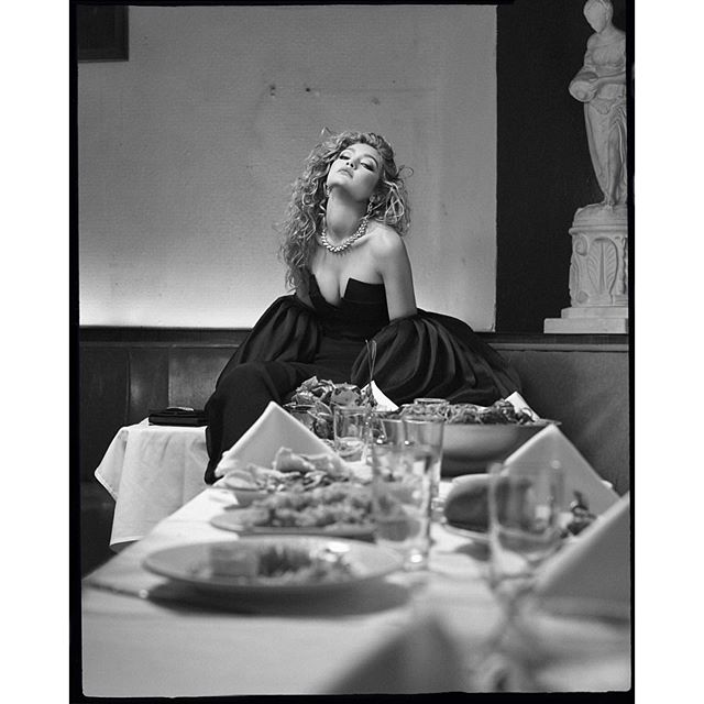 ..when no one shows up to your dinner party ;) @crfashionbook cover issue on stands now @carineroitfeld @sebastian_faena