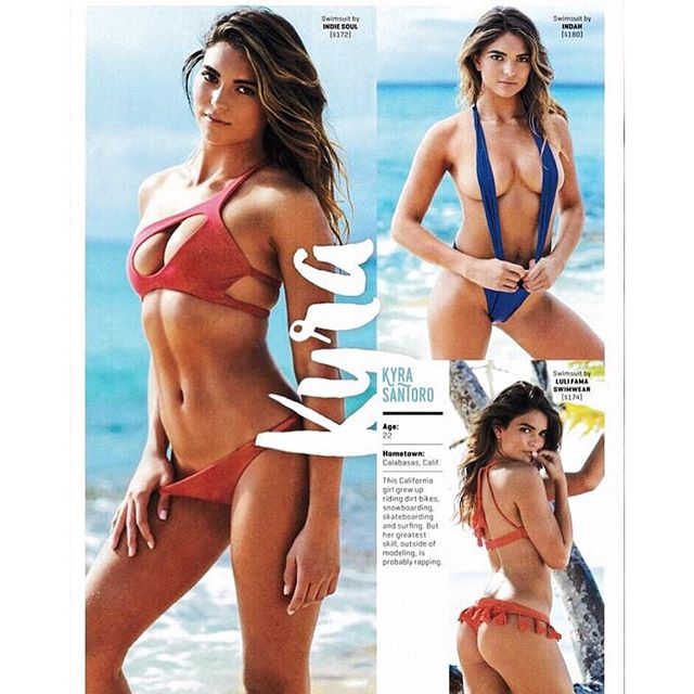 If you haven't picked up a hard copy yet, here's what my page in @si_swimsuit looks like don't forget to keep voting everyday until April 15th if you want to see me become a reoccurring model in SI!! Link in bio