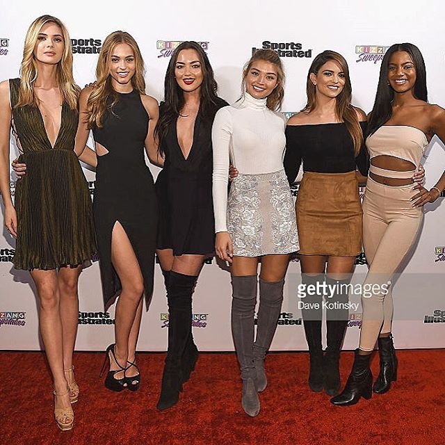 SI babes last night at the march madness event @si_swimsuit @mj_day @kizzanggames