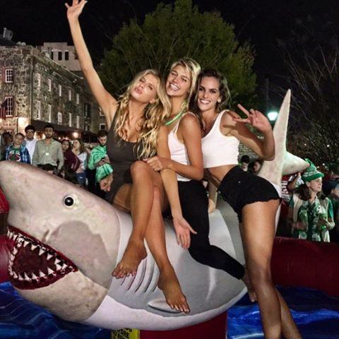 shenanigans on a shark in Savannah. yeeeehawww