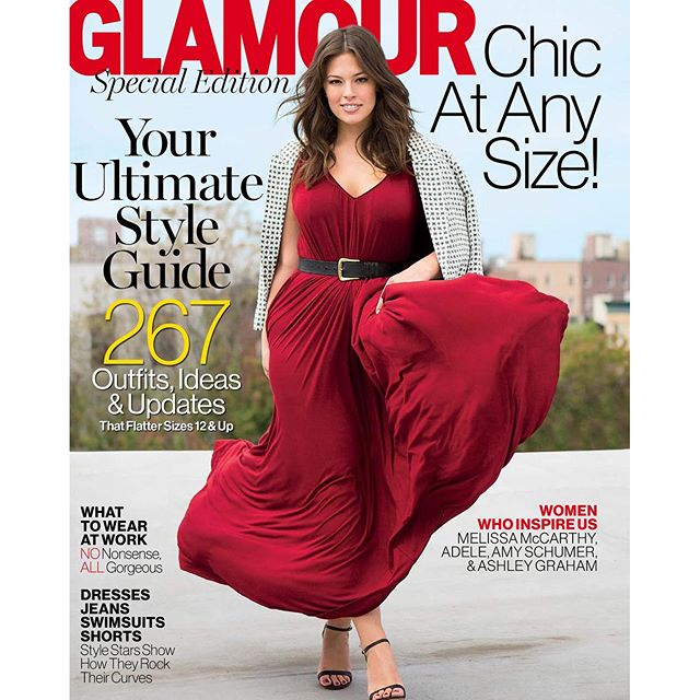@GlamourMag partnered with @LaneBryant to give you a special issue dedicated to your curves! Pick up a copy today!! #chicatanysize #beautybeyondsize