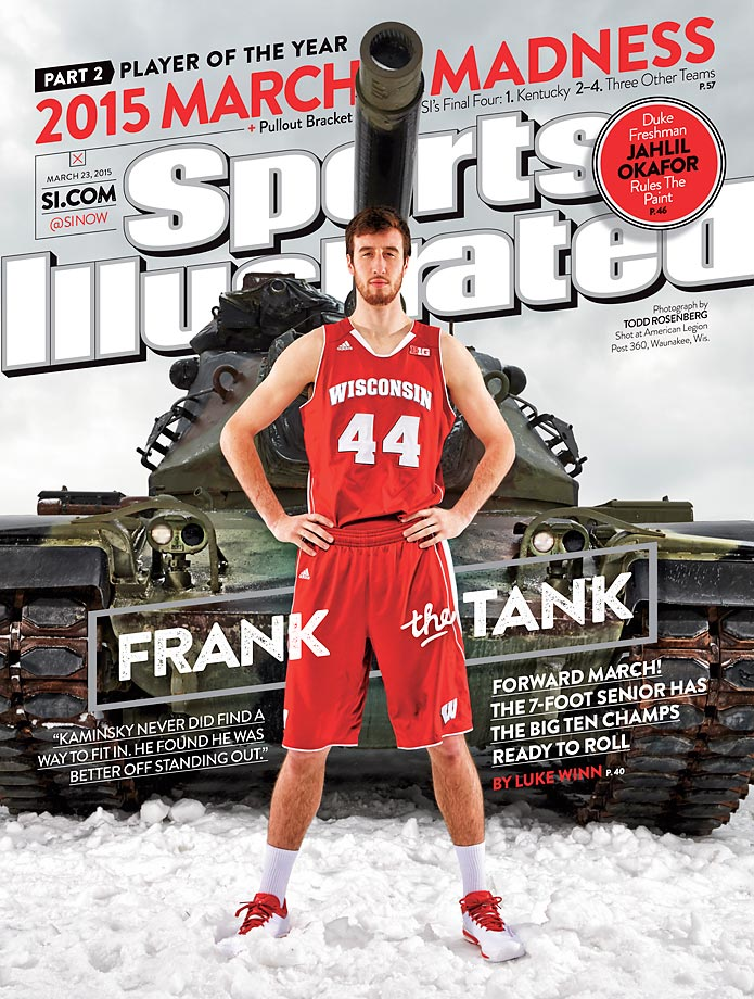 March 23, 2015 | Wisconsin's do-it-all forward, senior Frank Kaminsky, is Sports lllustrated's Player of the Year, after leading the Badgers to a 31-3 record and the Big Ten's regular season and tournament titles.