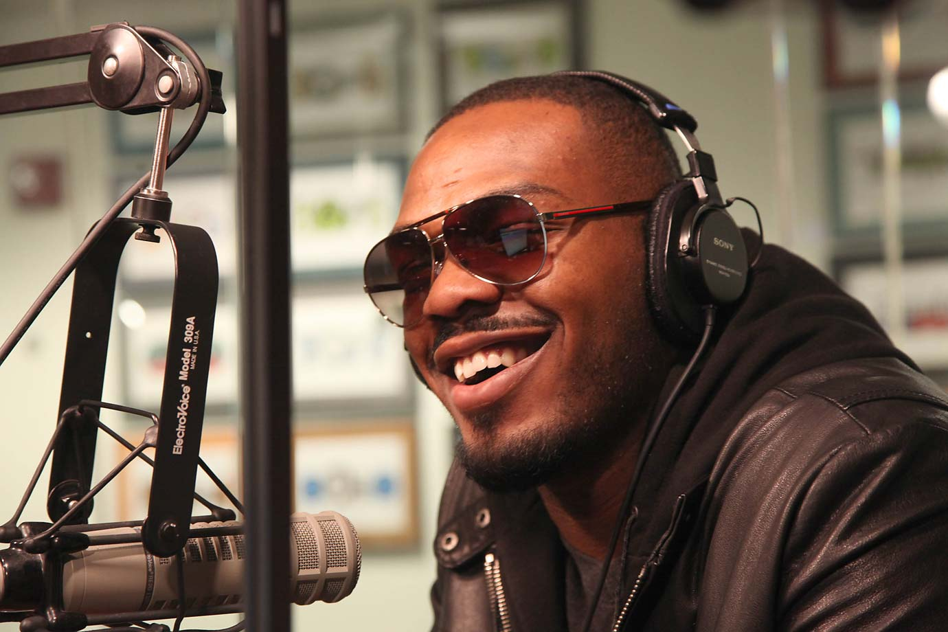 Jon Jones visited The Whoolywood Shuffle at SiriusXM Studio on December 21 2011 in New York City.