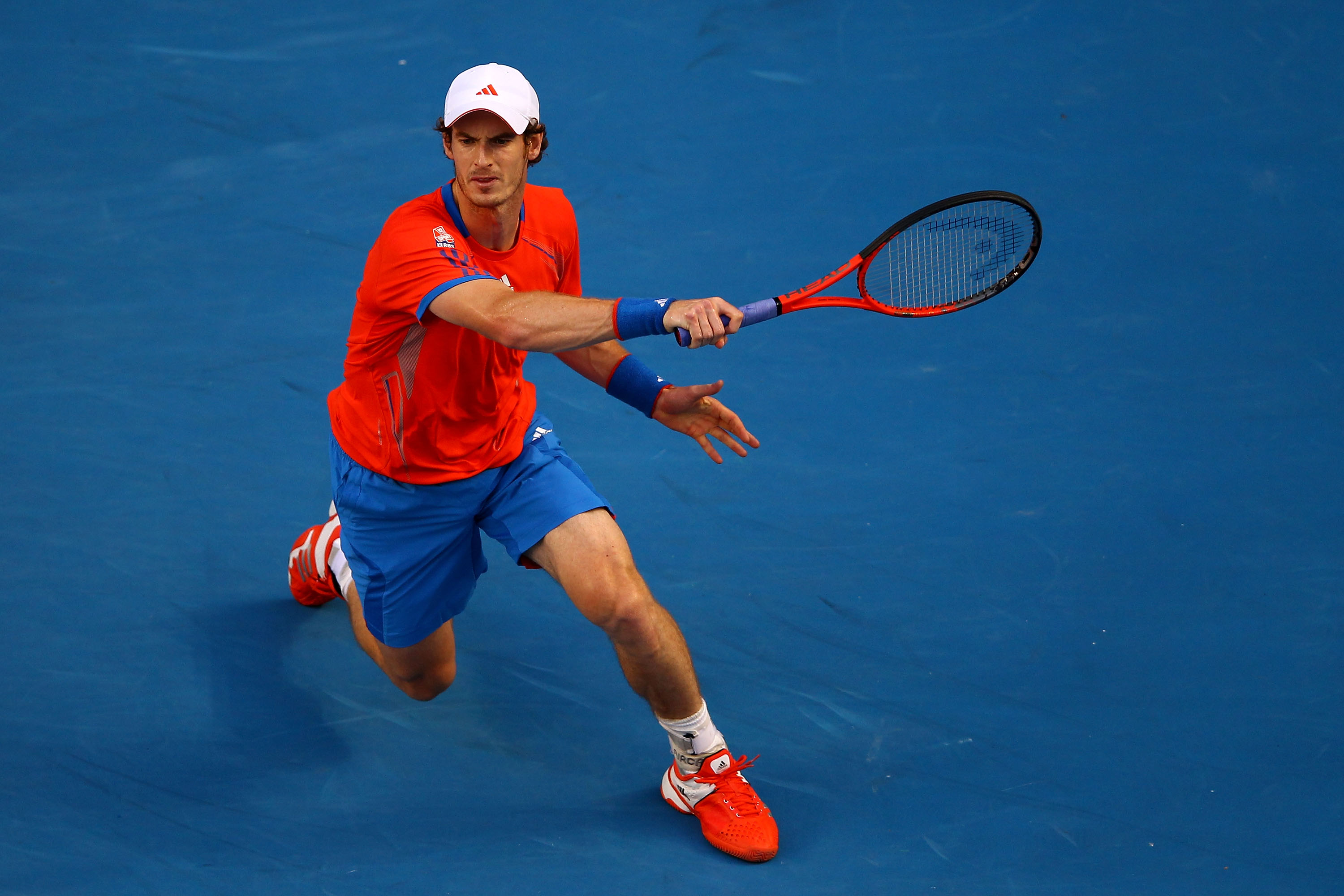 "Adidas is ""all in"" on bold color choices at the Australian Open."