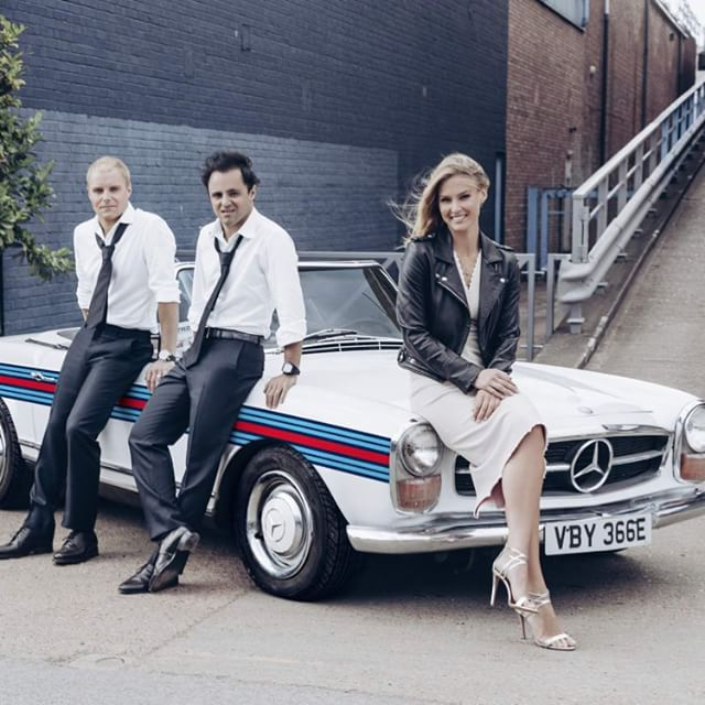 Bringing Martini style to racing with @Martini_official, @ValtteriBottas, @MassaFelipe19