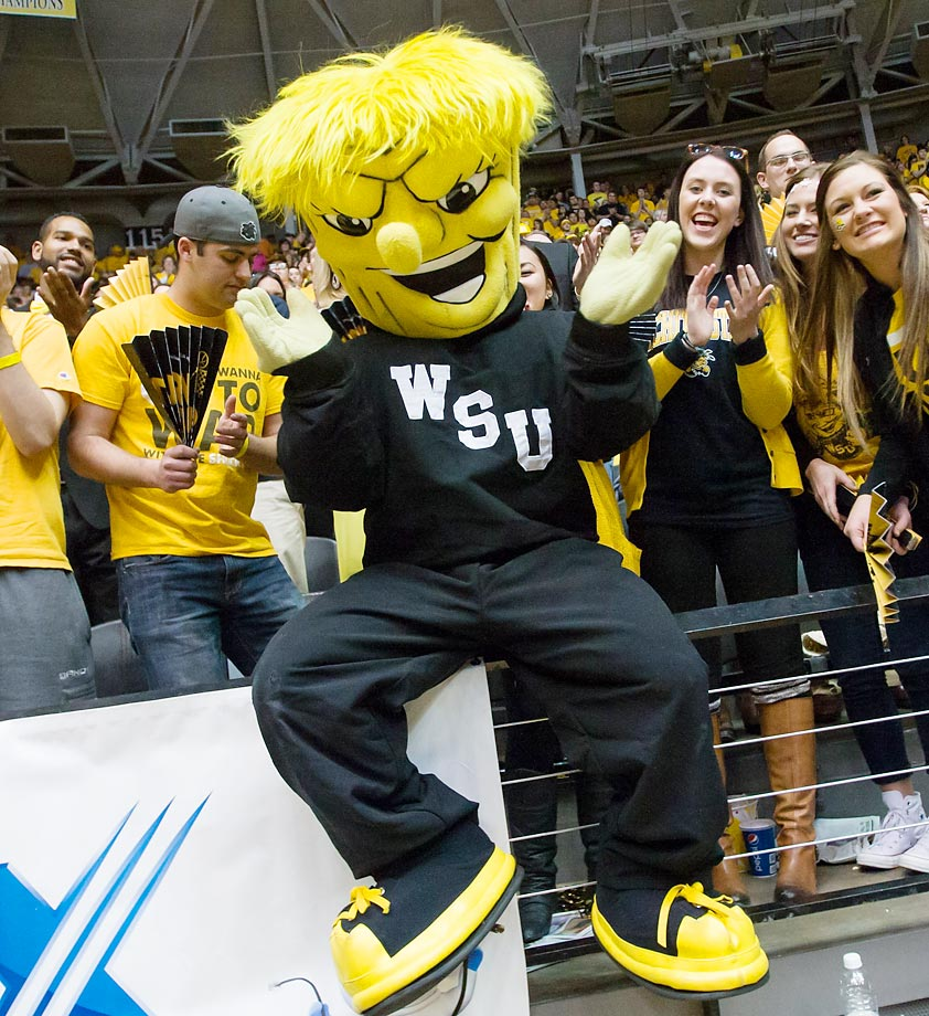 There are zero other NCAA teams with the nickname Shockers, giving them an easy leg-up for mascot. Wushock is unique, whimsical and family-friendly while also displaying an adequate amount of intimidation. Do not change a thing. (Text credit: Andrew S. Doughty/NextImpuseSports.com)