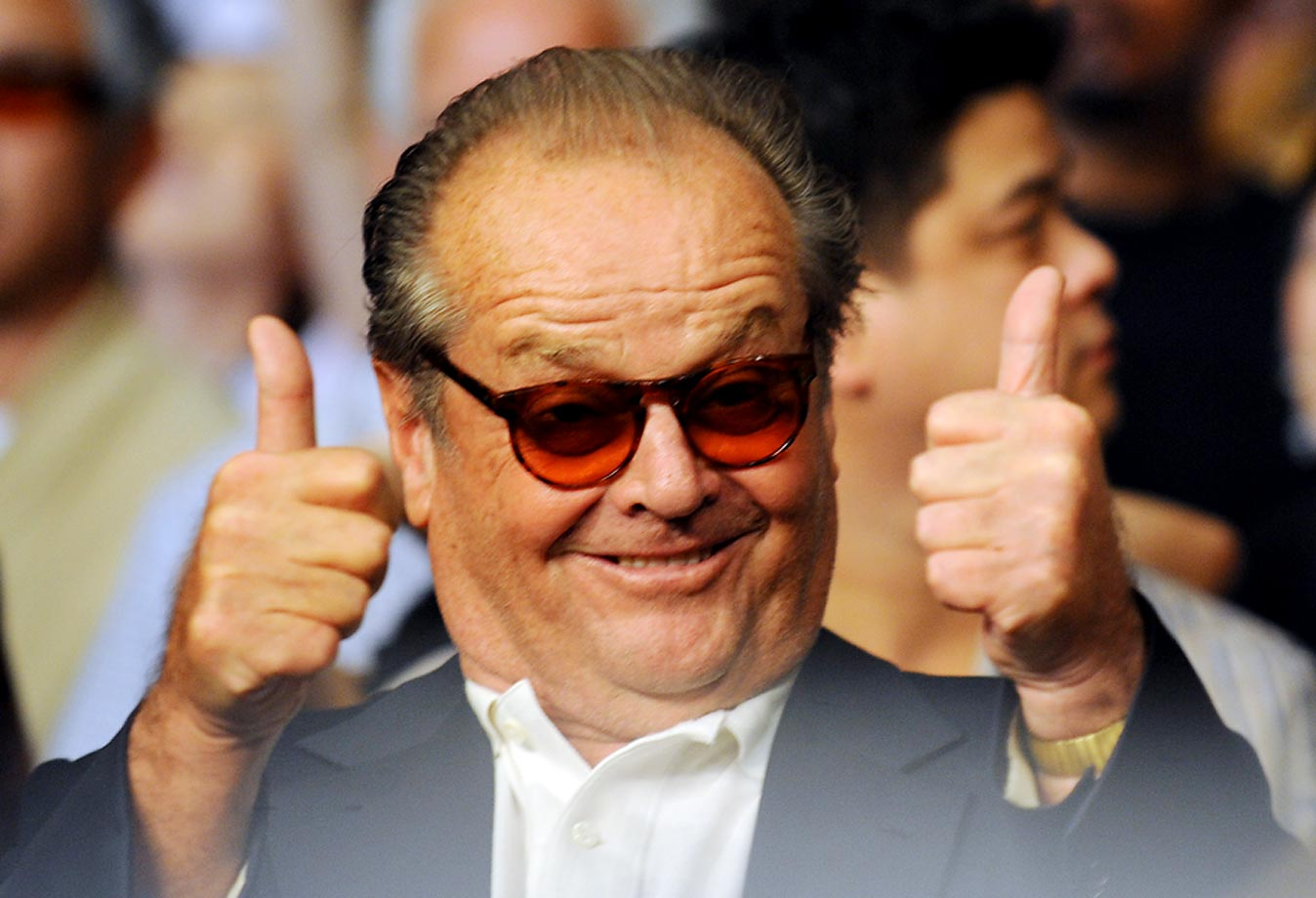 Actor Jack Nicholson watched as Manny Pacquiao stopped Ricky Hatton.